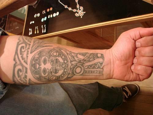 aztec tattoos for men