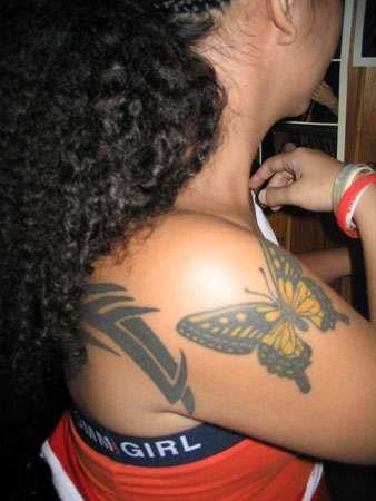 Фото и эскизы татуировки с бабочками
